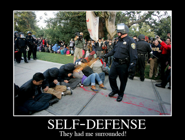 Self-defense: They had me surrounded!